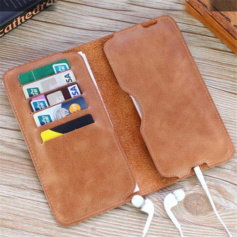 Portefeuille Vintage en cuir véritable homme Long portefeuilles Simple doux téléphone portefeuille billeteras pas de carte à glissière porte-monnaie Portafogli Uomo