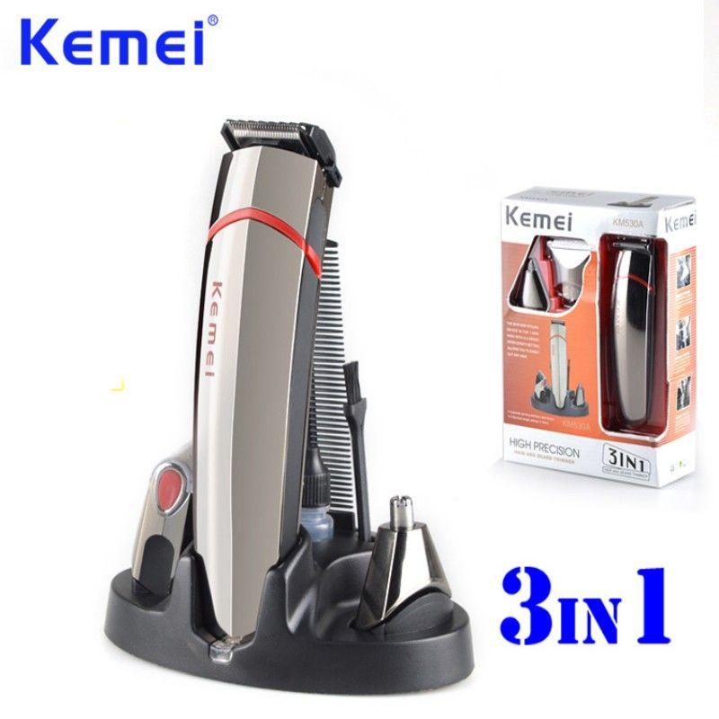 Kemei 3 в 1 Профессиональные высокой точности машинка для стрижки волос в носу бритвы Борода волос триммер maquina де cortar o Cabelo BT-103