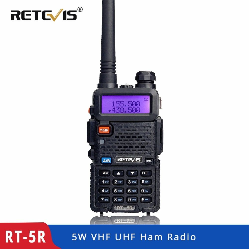 RETEVIS RT5R Handy Walkie Talkie 5W VHF UHF VOX FM Ham Amateur Radio Station Two Way Radio Transceiver Walkie-Talkie for Hunting