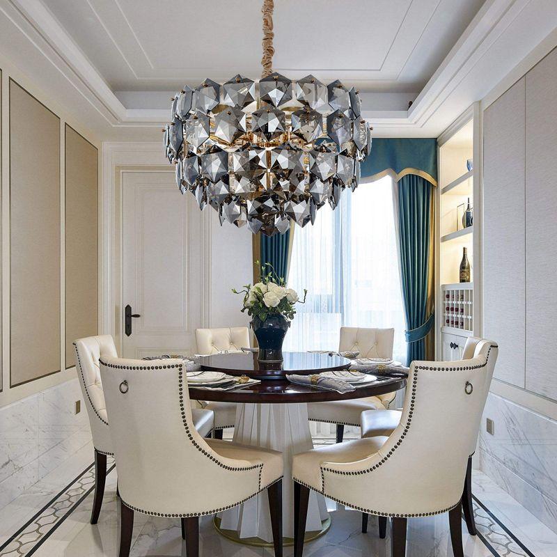 Luxus moderne kronleuchter beleuchtung kristall leuchten land haus wohnzimmer esszimmer LED glanz de cristal lampara colgante