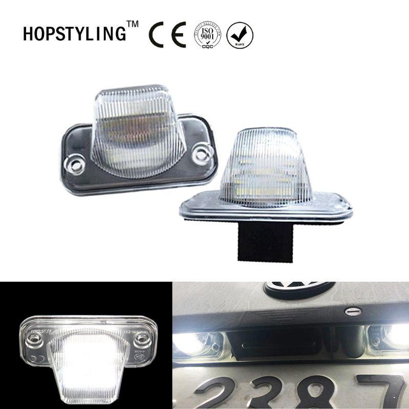 Hopstyling 2x smd LED pour VW T4 Passat B5 bonbons Jetta Touran auto plaque d'immatriculation lumière LED courtoisie porte lumière pour Volkswagen