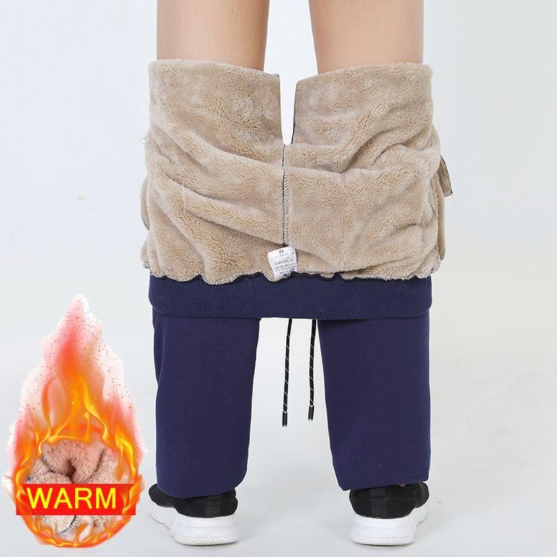 Hommes hiver Plus cachemire velours épaissir pantalons hommes pantalons chauds hommes pantalons de survêtement marque vêtements hommes taille élastique pantalon 666