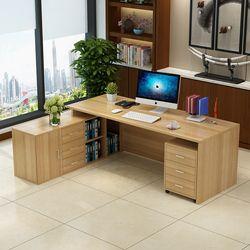 0211TB009 MDF moderno personalizado Oficina Muebles Combinación libre de escritorio ejecutivo Gestor jefe mesa escritorio de oficina