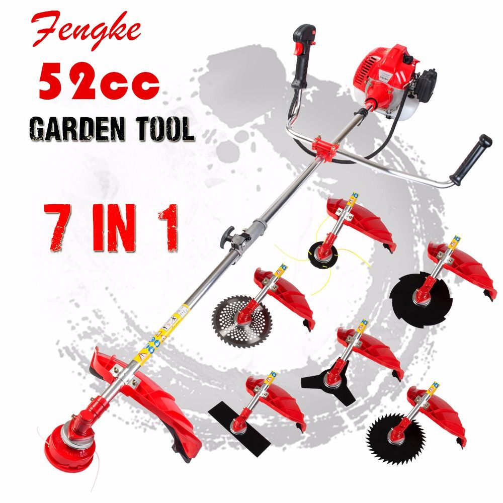 2017 Professional <font><b>quality</b></font> 7 in 1 Grass cutter with 52cc Engine Multi Brush cutter Petrol strimmer Tree Pruner factory selling