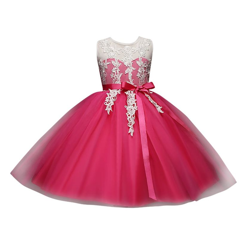 dress elegant party dress lace white dress 2018 summer casual listrado Children Princess Dress 2-6 years old Fashion Backless #5