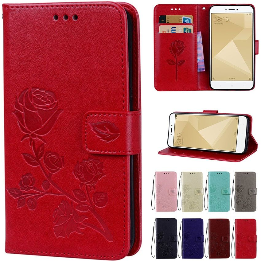 Flip Leather case for Xiaomi Redmi 5A Phone Case for Xiaomi Redmi 5a Case 5 A Rose Pattern Luxury Wallet Cover Stand Phone Cases