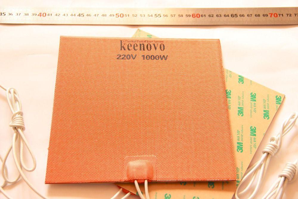 200X200 мм, 1KW @ 220 В, мощный KEENOVO Большой Грузовик Блок Двигателя Масляный Поддон Гибкие Силиконовые Нагреватель Pad