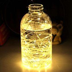 Cadena de luz LED Mini impermeable luces de Navidad Fiesta jardín decoración de la boda dormitorio lámpara de interior al aire libre