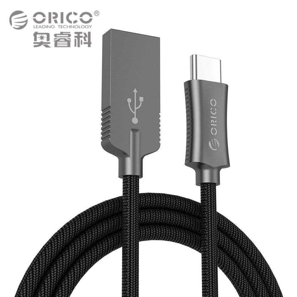 ORICO USB Type A to USB-C Cable USB Sync & Charging Cord for Huawei P9 Macbook LG G5 Xiaomi Mi 5 HTC 10 More Zinc Alloy 1 Meter