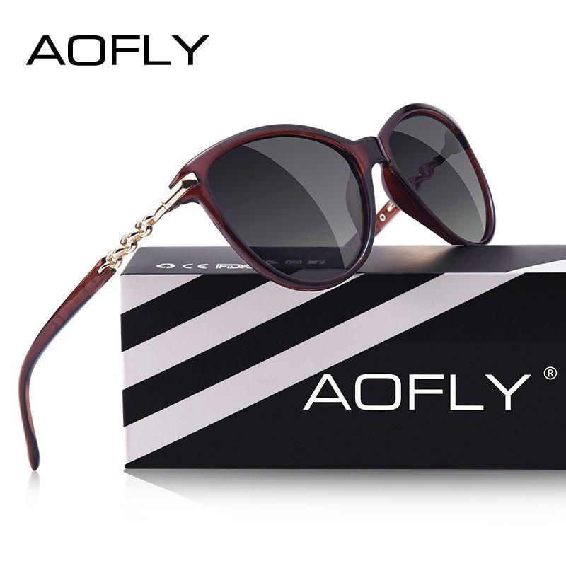 AOFLY marque DESIGN œil de chat lunettes de soleil polarisées femmes lunettes de soleil polarisées femmes dégradé nuances Oculos Feminino UV400