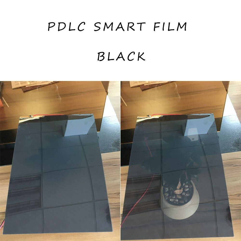 2 stücke 494*1020mm Schwarz Smart Umschaltbar Glas Film PDLC Smart Tönung Film