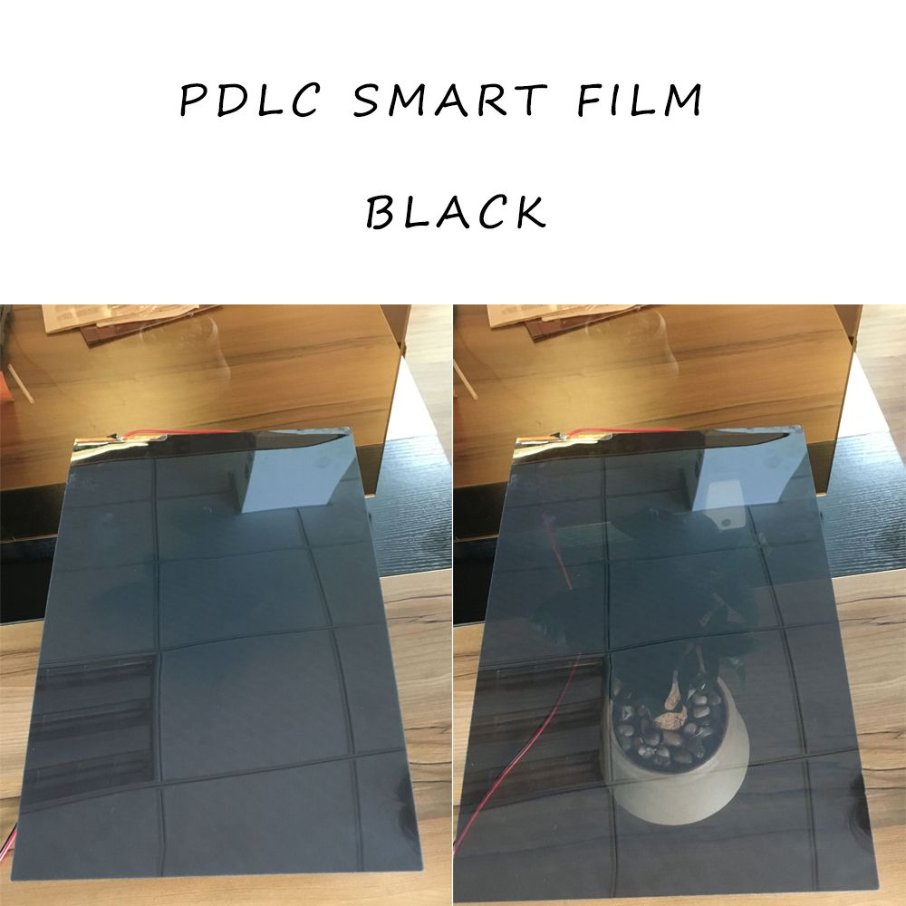 2Pcs 494*1020mm Black Smart Switchable Glass Film PDLC Smart Tint Film