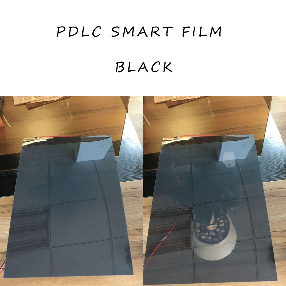 2Pcs 494*1020mm Black Smart Switchable Glass Film PDLC Smart Tint Film