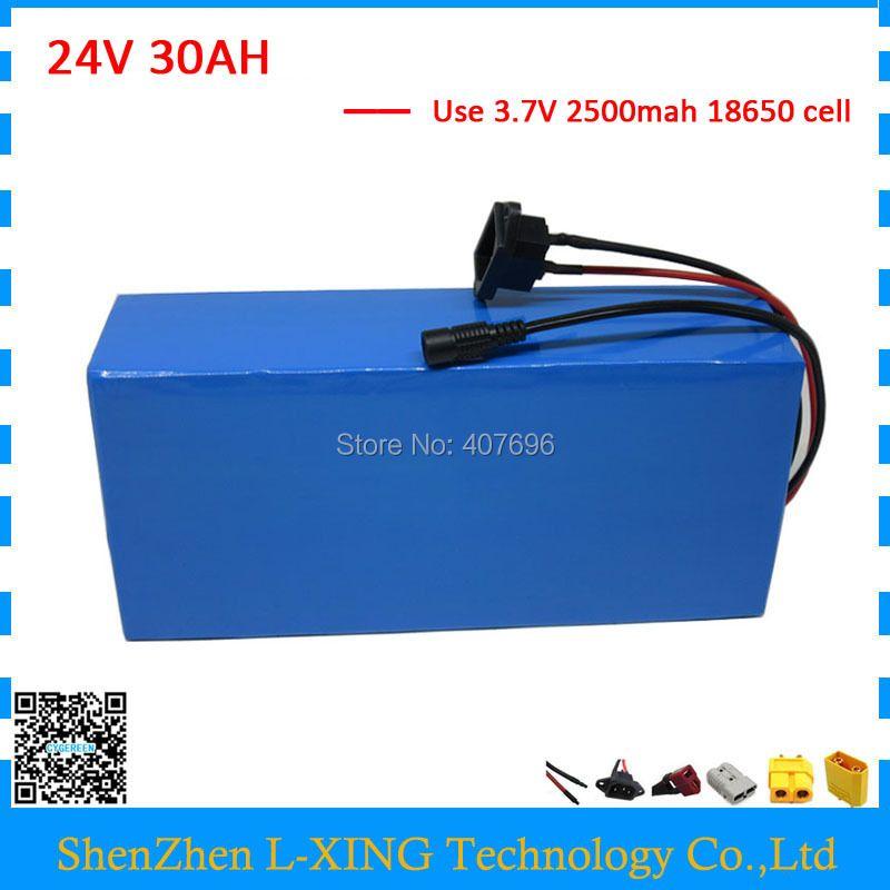 Hohe kapazität 1000W 24Volt Li ionen akku 24v 30ah Elektrische fahrrad batterie mit 3A ladegerät und 50A BMS Freies gewohnheiten gebühr