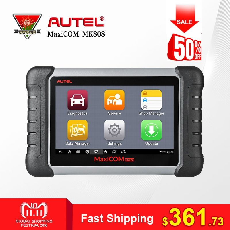 Autel MaxiCOM MK808 Car Auto Diagnostic Tool OBD2 Scanner Automotivo Full Systems Code Reader for Key Programming EPB IMMO DPF