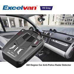 Compensation StockExcelvan V9 Véhicule Détecteur de Radar 360 Degrés Voiture Camionneur Vitesse Voix Alerte Avertissement 16 Bande Auto 12 V LED affichage