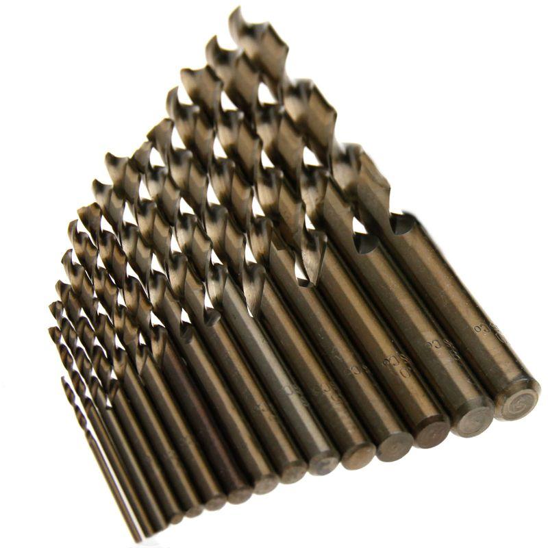 15pcs Cobalt Drill Bits For Metal Wood <font><b>Working</b></font> M35 HSS Co Steel Straight Shank 1.5-10mm Twist Drill Bit Power Tools Mayitr