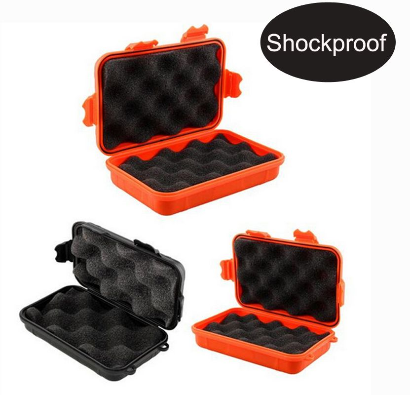 Waterproof box phone case Shockproof Airtight Survival Case Container Storage Carry Box with foam lining