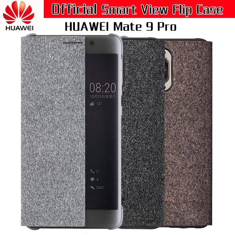 Huawei MATE 9 Pro Case Original Official Smart View Window Shockproof Flip Cover Capa Coque Funda Huawei MATE9 Pro Case Cover