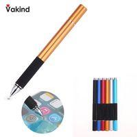 Емкостная ручка с сенсорным экраном ручка для рисования стилус для iPhone для iPad для смартфона планшет черный серебристый красный синий дропш...