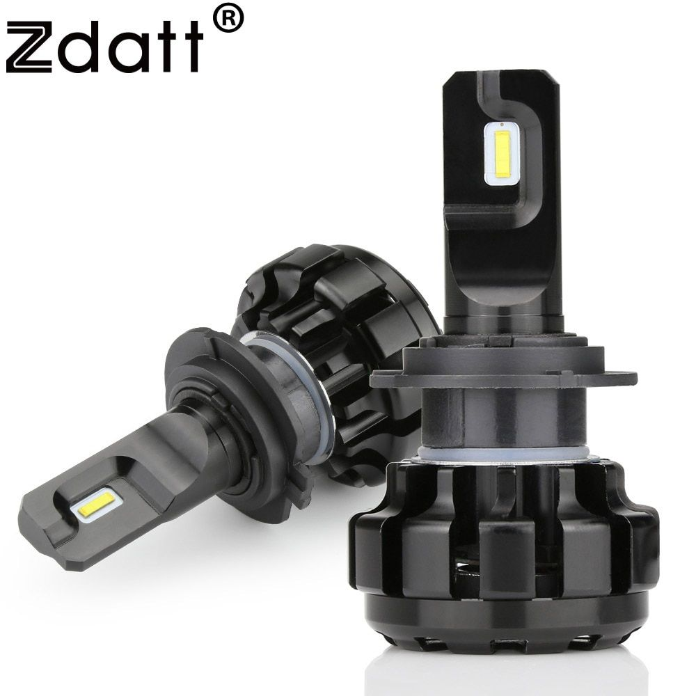 Zdatt 2Pcs Super Brgiht Car Led Light H1 H7 Led Bulb H8 H9 H11 9005 HB3 Headlights Canbus 100W 12000LM 12V Automobiles