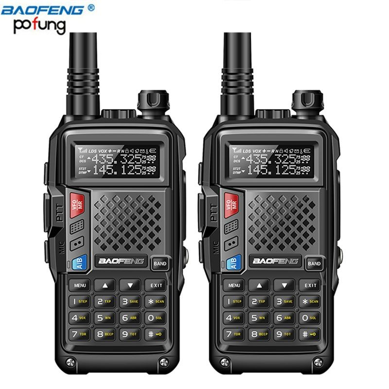 2PCS BaoFeng BF-UVB3 Plus Walkie Talkie Powerful Ham CB Radio Transceiver 8W 10km Long Range Handheld Radio for forest & city
