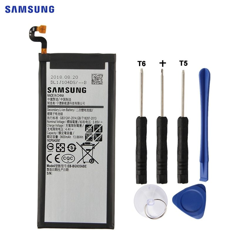 SAMSUNG Original Battery EB-BG935ABE EB-BG935ABA For Samsung GALAXY S7Edge G9350 SM-G935FD SM-G935F SM-G935P SM-G935F 3600mAh