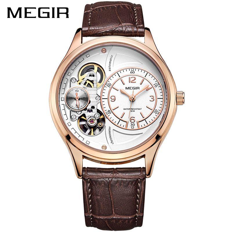 MEGIR Men Watch Top Brand Luxury Quartz Watches Relogio Masculino Leather Military Watch Clock Men Erkek Kol Saati ML2017