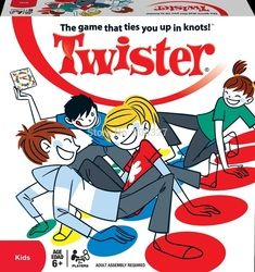 Baru tubuh Twister permainan ukuran besar 165 x 118 cm bermain tikar permainan partai permainan di luar ruangan jari Twister papan permainan yang ikatan Anda Up dalam knot