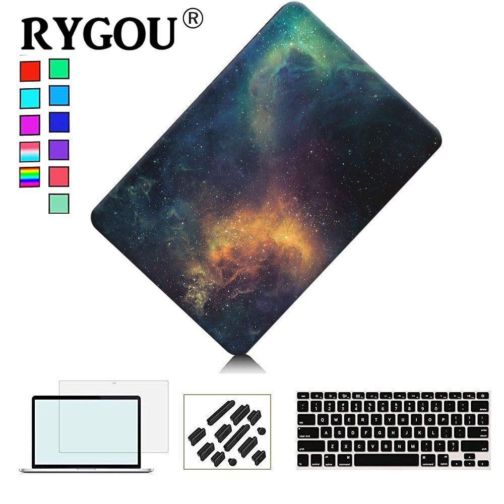 RYGOU Mat Dur Cas Pour Macbook Pro 13 15 avec Retina A1425 A1502 Cas D'ordinateur Portable pour Mac Book Pro 13 15 2016 A1706 A1708 A1707