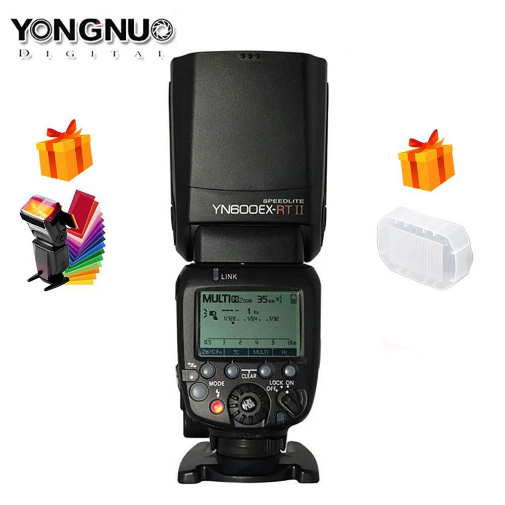 Original YONGNUO YN600EX-RT II 2.4G Wireless HSS 1/8000s Master TTL Flash Speedlite for Canon Camera as 600EX-RT YN600EX RT II