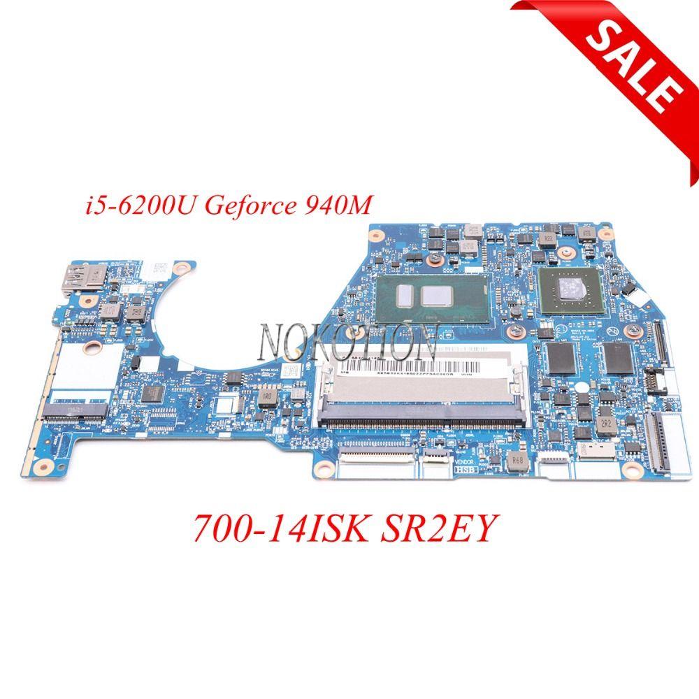 NOKOTION BYG43 NM-A601 laptop motherboard For lenovo Yoga 700-14ISK SR2EY i5-6200U Geforce 940M Main board full tested