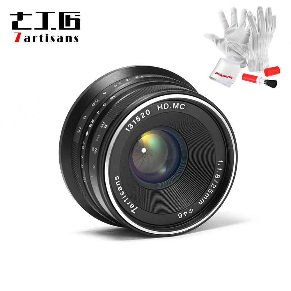 7artisans 25mm / F1.8 Prime Lens to All Single Series for E Mount / for Micro 4/3 Cameras A7 A7II A7R A7RII X-A1 X-A2 G1 G2 G3
