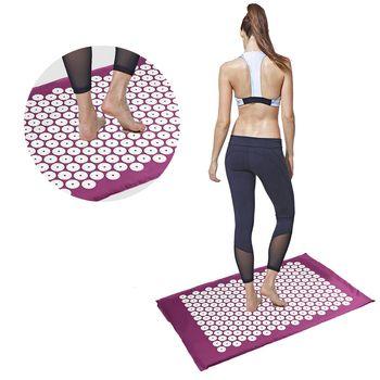 Yoga Masseur Acupression Points Thérapie Masseur Relaxation Du Corps Stress Soulagement de La Douleur Tapis De Yoga Pad Coussin Acupressure Masseur
