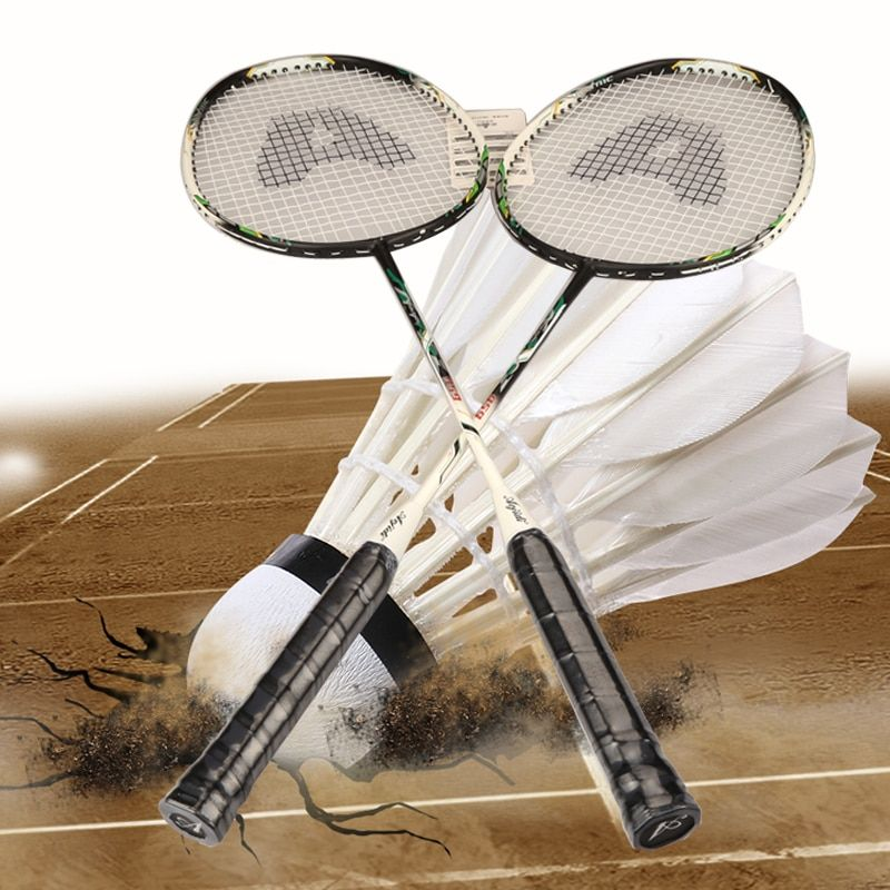 2 pcs Outdoor Activities Badminton Racket With Bag Men Women Sports Training Rackets With High Quality