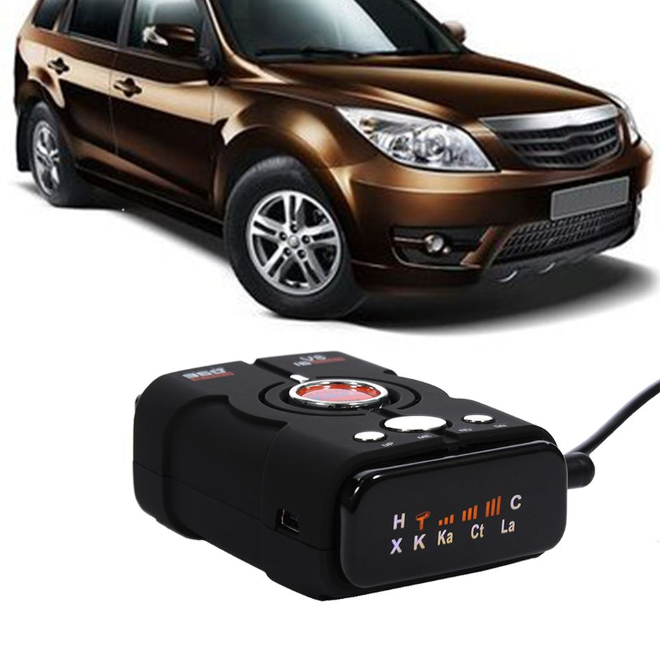 New TopBox V8 Car-Detector 360 Degree Radar Detector Full 16 Band LED Display Auto Laser Security Car Speed Control