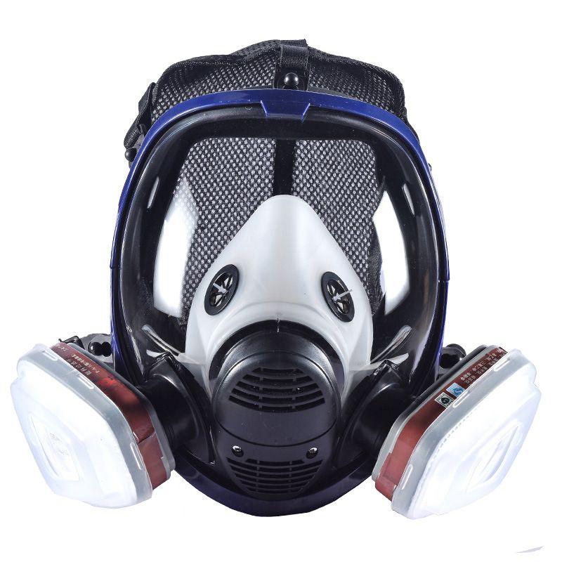 Nouveau respirateur industriel 7-en-1 6800 masque à gaz complet avec cartouche filtrante pour peinture pulvérisation similaire pour 3 M 6800