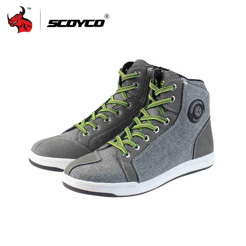 Scoyco мотоботы Для мужчин дорога улица повседневная обувь Бато Мотокросс Сапоги и ботинки для девочек дышащий мото Защитное Снаряжение льна ...