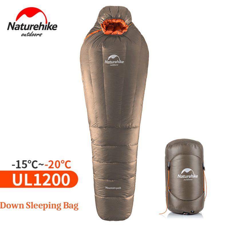 NatureHike Mumienschlafsack Ultraleichtflugzeuge Im Freien Camping Erwachsene Schlafsack Mit Kompressionssack Warme Winter-20 ~-10 Grad Celsius