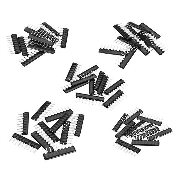 50Pcs/Lot 10Pcs 5 Values 2.54mm 9Pin Resistor Pack Network Resistor Array Component Pack A09-101 A09-102 A09-103 A09-471 A09-472