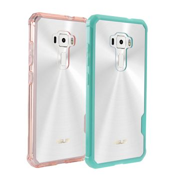 Hybrid Shockproof Cover Air Cushion Frame Case Acrylic Crystal Clear Back Shell Phone Bag For Asus ZenFone 3 ZE520KL 5.2inch