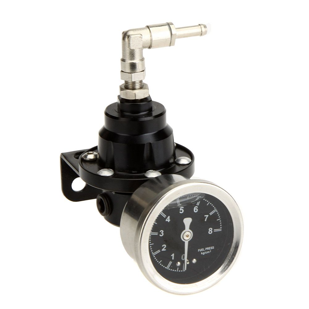 Car Style TOMEI Performance Adjustable Fuel Pressure Regulator with Filled Oil Gauge for Car Auto