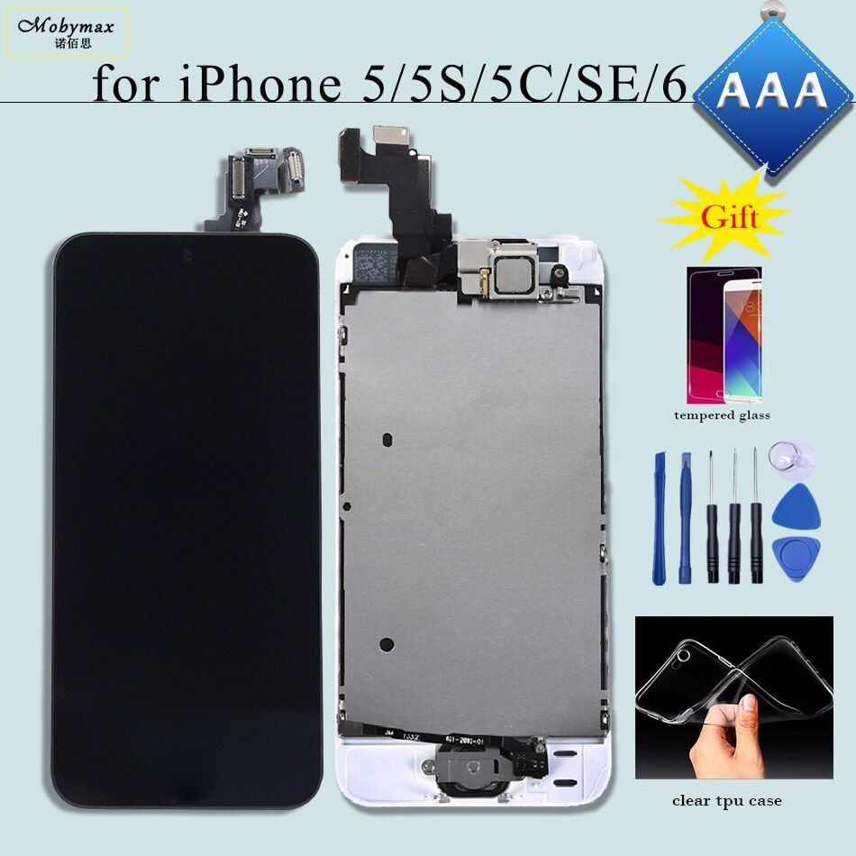 Full Assembly LCD for iPhone 5 Screen 5S 5C SE Display Replacement Touch Digitizer for iPhone 6 Display+Home Button+Front Camera