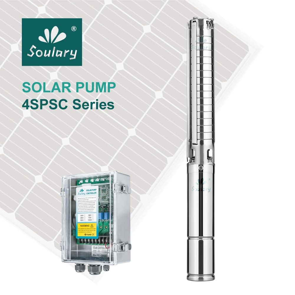 (DHL Free Shipping ) Top-Quality Automatic 2hp Submersible Solar Pumps ( 10m3/h-57m | model 4SPSC10/57-D72/1300)