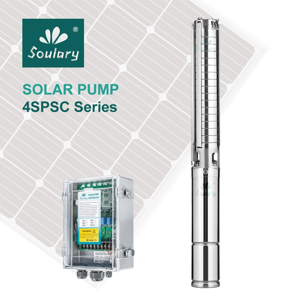 (DHL Free Shipping ) Top-Quality Automatic 2hp Submersible Solar Pumps ( 10m3/h-57m   model 4SPSC10/57-D72/1300)