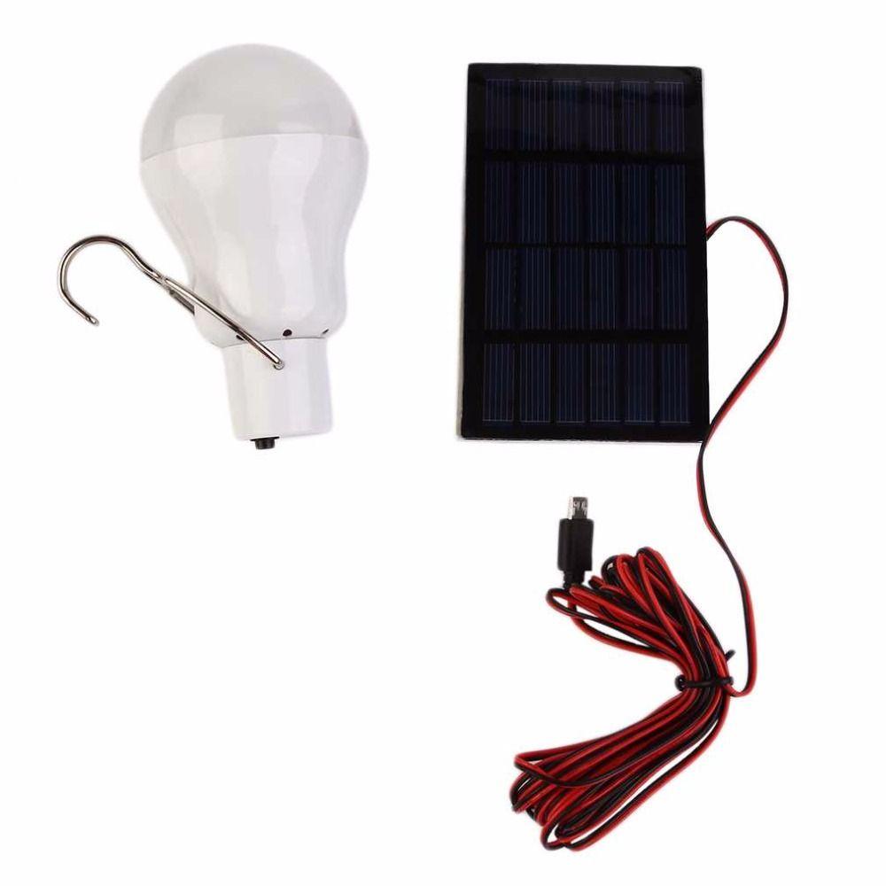 20 W 150LM Portable Solaire Puissance LED Ampoule Solaire Alimenté Lumière Solaire Chargé D'énergie Lampe Éclairage Extérieur Camp Tente De Pêche lumière