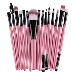 6/15 pcs/ensemble pinceaux de Maquillage Professionnel Beauté des Sourcils Blush Fondation Cosmétique Make up brush set Maquiagem