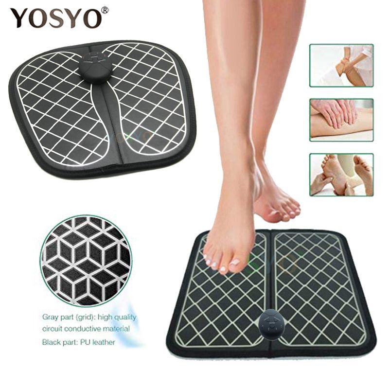 Électrique EMS masseur de pieds ABS physiothérapie revitalisante pédicure dizaines pied vibrateur sans fil pieds stimulateur musculaire unisexe