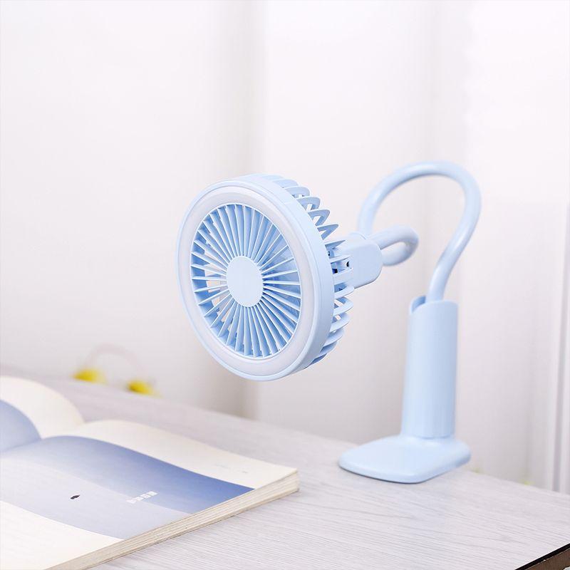 Ventilateur USB Portable flexible avec lumière LED refroidisseur réglable à 2 vitesses Mini ventilateur pratique petit bureau ventilateur de refroidissement USB pour enfant