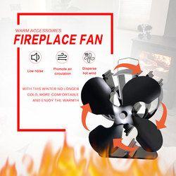4 лезвия тепла питание эко вентилятор печки (черный) увеличить более 80% теплый воздух, чем 2 лезвия печки вентилятор для дерева/горелка бревна...